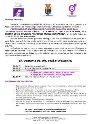 El I Encuentro de Asociaciones de Mujeres comarcal en Los Montesinos reivindica los derechos y libertades de la mujer en el siglo XXI