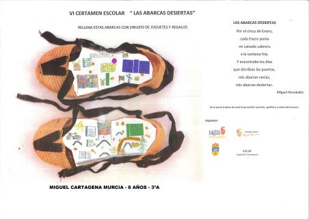 Fallados los premios del VI Certamen Escolar 'Las abarcas desiertas' del colegio público 'Sagrados corazones' de Redován