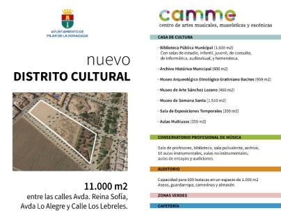 La Junta de Gobierno Local de Pilar de la Horadada aprueba poner en marcha un nuevo 'distrito cultural' para el municipio con la construcción del 'Centro de Artes Museísticas, Musicales y Escénicas' (CAMME)