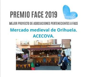 El Mercado Medieval de Orihuela se alza con el Premio Nacional 'FACE 2019' como Mejor Proyecto de Asociaciones de la Federación de Celíacos de España, por su carácter inclusivo con el colectivo