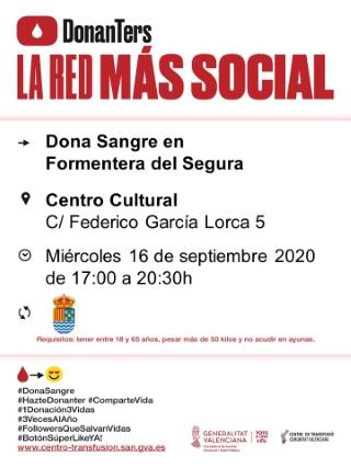 Formentera del Segura: Donación de sangre, organizada por el Centro de Transfusiones de la Comunidad Valenciana