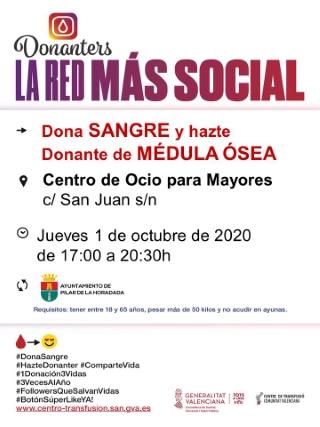 Pilar de la Horadada: Donación de sangre y para hacerse donante de médula ósea, organizada por el Centro de Transfusiones de la Comunidad Valenciana