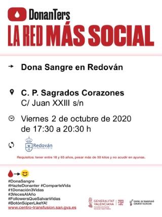 Redován: Donación de sangre, organizada por el Centro de Transfusiones de la Comunidad Valenciana