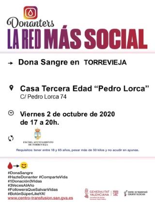 Torrevieja: Donación de sangre, organizada por el Centro de Transfusiones de la Comunidad Valenciana