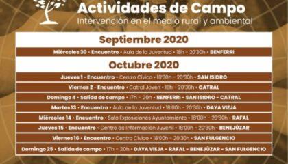 Benferri: Encuentro dirigido a la juventud para promocionar el voluntariado medioambiental, dentro de la actividad de campo 'Deja tu huella', organizada por la Mancomunidad Bajo Segura (MBS)