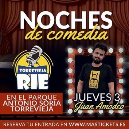 Torrevieja: Actuación del humorista sevillano Juan Amodeo con 'El juicio final', dentro del festival 'Torrevieja ríe'