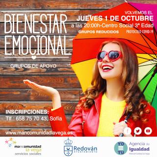 Redován: Taller de bienestar emocional con grupos de apoyo, organizado por el área de Servicios Sociales y la Agencia de Igualdad de la Mancomunidad La Vega