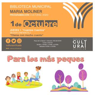 Orihuela: Sesión de cuentacuentos con 'Títeres con mucho cuento', en el ciclo infantil 'Cuantos cuentos', dentro de las actividades de la Biblioteca 'María Moliner'