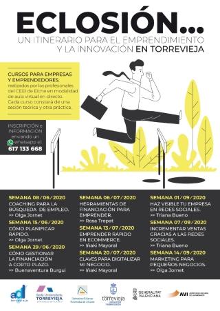 Torrevieja virtual: Inscripción al taller-curso formativo teórico-práctico 'Marketing para pequeños negocios', por Olga Jornet, dentro de 'Eclosión', itinerario para emprendimiento e innovación