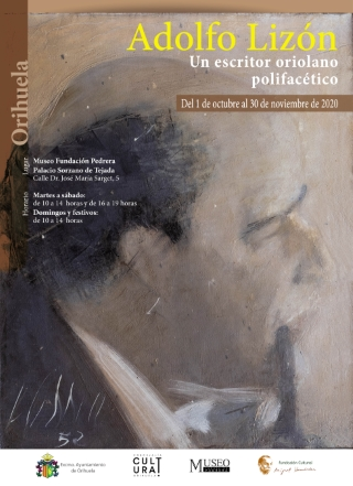 Orihuela: Exposición 'Un escritor oriolano polifacético, Adolfo Lizón (1918-2011)', con más de 200 objetos personales, fotografías y escritos, organizada por la Fundación Cultural Miguek Hernández y la Concejalía de Cultura