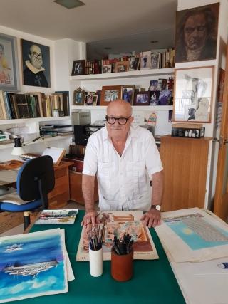 Orihuela: Exposición 'Por humor al arte', del caricaturista y pintor oriolano, Alfonso Ortuño, con dibujos humorísticos publicados en prestigiosas revistas y publicaciones de carácter nacional