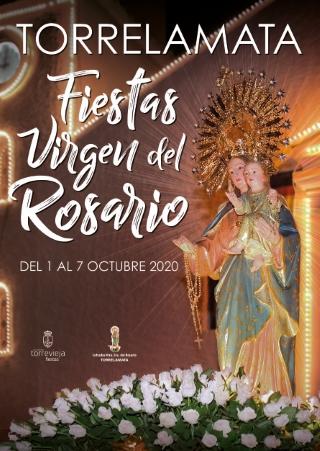 La Mata de Torrevieja: Celebración de la misa en honor a la patrona de La Mata, la Virgen del Rosario, dentro de las fiestas patronales en honor a la Virgen del Rosario 2020