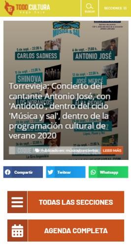Mirad las novedades del periódico cultural y de ocio Todo Cultura Vega Baja