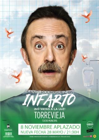 Torrevieja: Solicitud de devolución de importe de entradas del espectáculo de humor 'Infarto, ¡no vayas a la luz!' con monólogos, por el cómico Santi Rodríguez