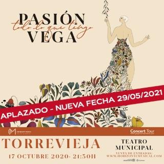 Torrevieja: Solicitud de devolución de importe de entradas del concierto de la cantante española Pasión Vega 'Todo lo que tengo', presentando su nuevo disco 'Sin fronteras'