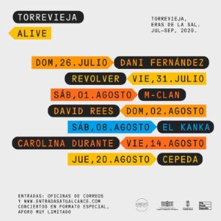 Torrevieja: Venta de entradas de los conciertos, espectáculos y representaciones de la programación cultural de verano 2020, organizada por la Concejalía de Cultura