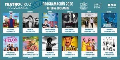 Orihuela: Inicio de la venta de entradas para los espectáculos del Teatro Circo 'Atanasio Die', organizados por la Concejalía de Cultura