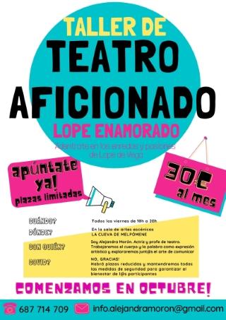 Torrevieja: Inscripción al taller de teatro aficionado 'Lope enamorado', por la actriz y profesora de teatro, Alejandra Morón