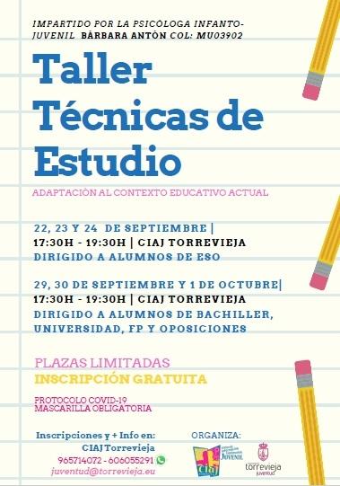 Torrevieja: Taller de 'Técnicas de estudio', impartido por la psicóloga infanto-juvenil, Bárbara Antón, organizado por la Concejalía de Juventud
