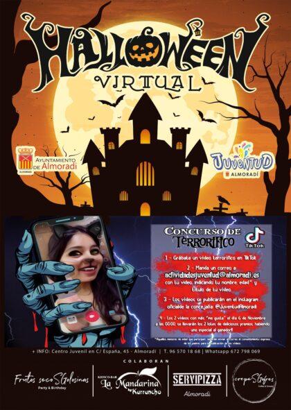 Almoradí, evento 'on line': Concurso de 'TikTok terrorífico' de temática de 'Halloween', dentro de las acvtividades de 'Halloween' de la Concejalía de Juventud