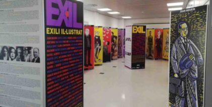 Benejúzar: Exposición 'Exili illustrat', sobre el exilio ilustrado en España, organizada por el Ayuntamiento y el IVAJ