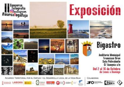 Bigastro: Exposición fotográfica itinerante 'Marca Vega Baja', con los trabajos del II Concurso de Instagram, organizada por Convega