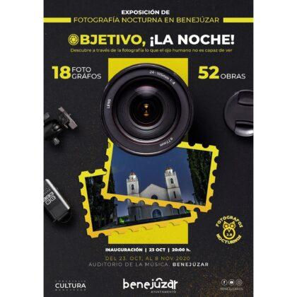 Benejúzar: Inauguración de la exposición 'Objetivo, ¡La noche!', con 52 fotogafías nocturnas en Benejúzar de 18 profesionales, dentro del 'Otoño Cultural 2020'