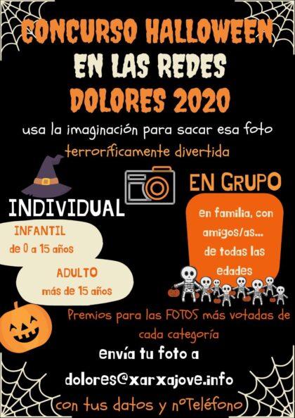 Dolores, evento 'on line': Concurso de 'Halloween' en las redes Dolores 2020, con las fotos más terroríficamente divertidas en la fiesta de 'Halloween'