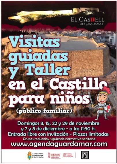 Guardamar del Segura, evento: Visitas guiadas y taller en el Castillo de Guardamar para niños (público familiar), organizadas por el Ayuntamiento