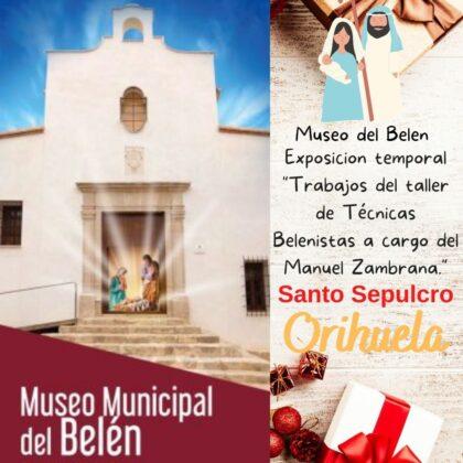 Orihuela, evento cultural: Exposición temporal de los trabajos del taller de 'Técnicas belenistas', a cargo de Manuel Zambrana, dentro de los actos de Navidad 2020-21