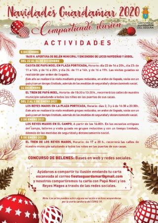 Campo de Guardamar del Segura, evento: Visitas de los Reyes Magos y talleres, dentro de las actividades de las fiestas navideñas 'Compartiendo ilusión'