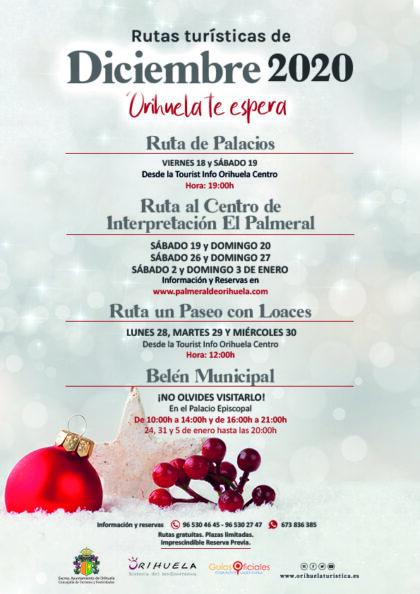 Orihuela, evento cultural: 'Ruta al Centro del Interpretación de El Palmeral', dentro de las rutas turísticas gratuitas de diciembre 2020 de la Concejalía de Turismo