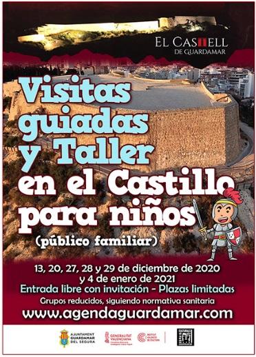 Guardamar del Segura, evento: Inscripciones a las visitas guiadas y taller en el Castillo de Guardamar para niños (público familiar), organizadas por el Ayuntamiento