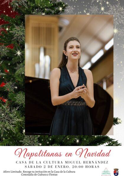 Albatera, evento cultural: Concierto lírico de 'Napolitanas en Navidad', con soprano, tenor, piano y violín, dentro de los actos de la agenda de Navidad 2020-21