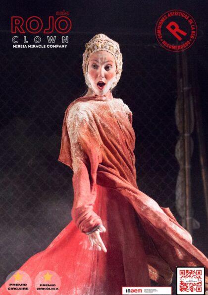 Torrevieja, evento cultural: Representación de la obra de teatro 'Rojo', creada, dirigida e interpretada por la 'clown' Mireia Miracle Company, dentro del ciclo 'Teatro para tod@s'