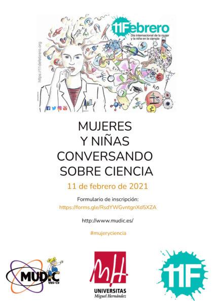 Desamparados de Orihuela, evento 'on line': Inscripción al Encuentro 'Mujeres y niñas conversando sobre ciencia', en el Día Internacional de la Mujer y la Niña en la Ciencia, organizado por el Museo de Ciencias MUDIC de la UMH