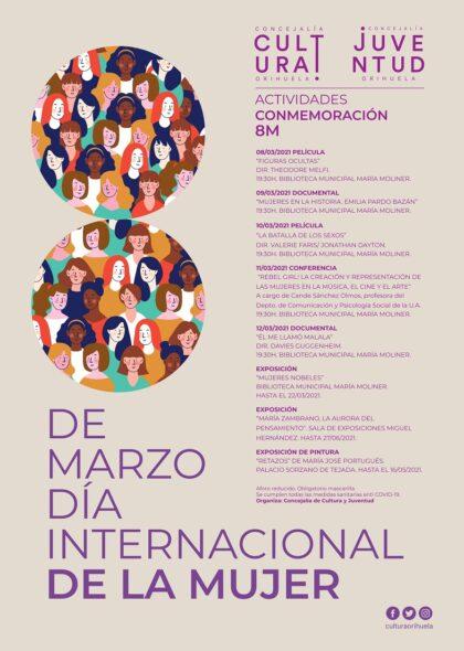 Orihuela, evento cultural: Sesión de cine con la película 'Figuras ocultas' (2016), dentro de las actividades de conmemoración del 8M de la Concejalía de Cultura y Juventud