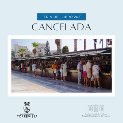 Torrevieja, evento cultural: Feria del Libro 2021, dentro del programa del primer semestre de 2021