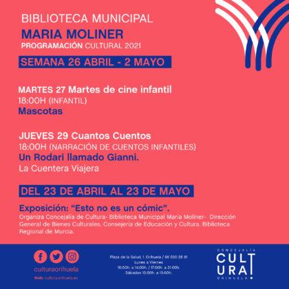 Orihuela, evento cultural: Exposición 'Esto no es un cómic', dentro de la programación cultural 2021 de la Biblioteca Municipal 'María Moliner'