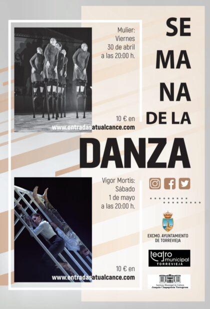 Torrevieja, evento cultural: Espectáculo de danza 'Vigor Mortis' ('Muerte viva') en la Semana de la Danza, dentro del programa del primer semestre de 2021