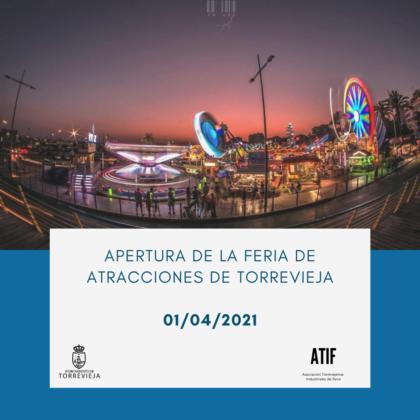 Torrevieja, evento: Apertura de la Feria de Atracciones con todas las medidas de seguridad e higiene necesarias, organizada por la Concejalía de Seguridad y Emergencias