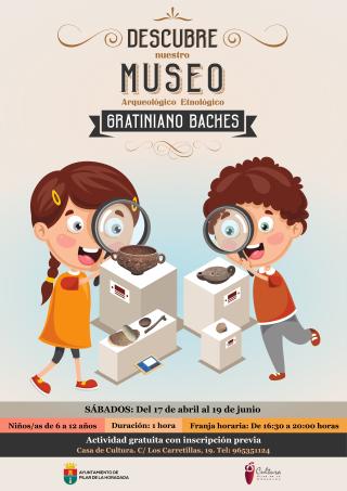 Pilar de la Horadada, evento cultural: Inscripción para la actividad 'Descubre nuestro Museo Arqueológico Etnológico Gratiniano Baches', orientada para niños de 6 a 12 años