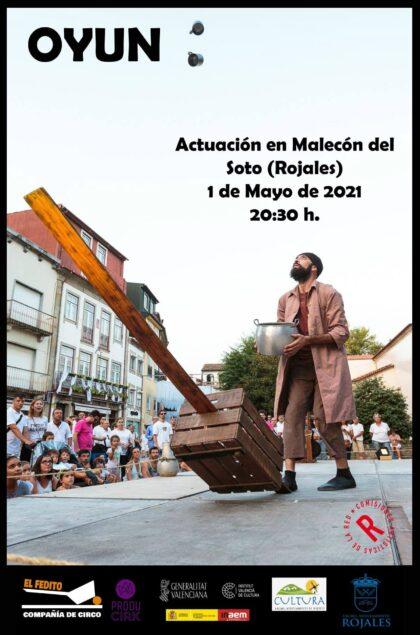 Rojales, evento cultural: Espectáculo de malabares 'Oyun', por la compañía 'El Fedito', de Federico Menini, organizado por la Concejalía de Cultura