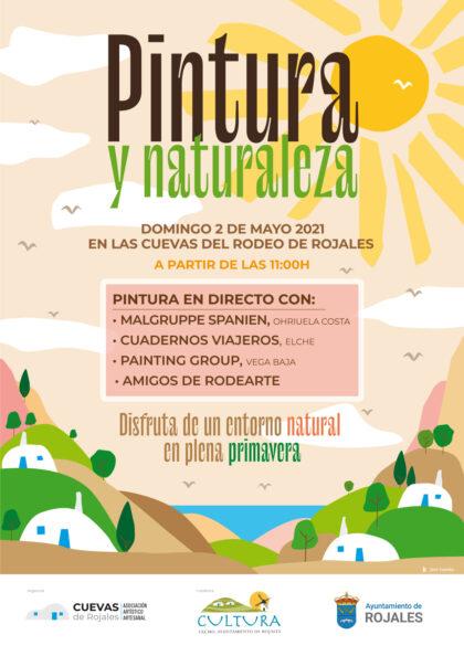 Rojales, evento cultural: Sesión de pintura en directo 'Pintura y naturaleza', con grandes pintores y dibujantes, organizada por la asociación artístico artesanal 'Cuevas del Rodeo'