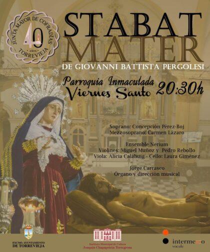 Torrevieja, evento cultural: Concierto del 'Stabat Mater', de Giovanni Battista Pergolesi, con soprano, violines y órgano