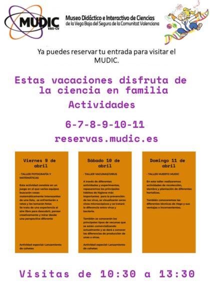 Desamparados de Orihuela, evento: Taller 'Cocina y reacciones químicas', organizado por el Museo de Ciencias MUDIC de la UMH