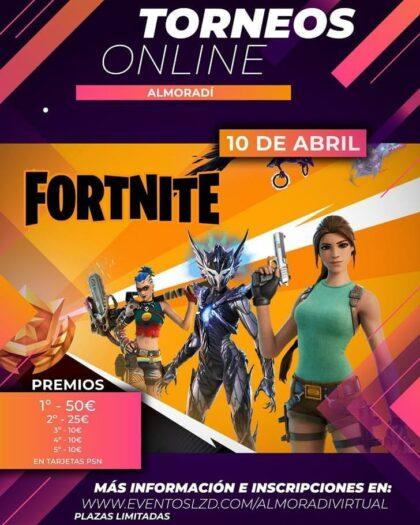 Almoradí, evento 'on line': Inscripción gratuita para el torneo del juego 'Fortnite', organizado por la Concejalía de Juventud