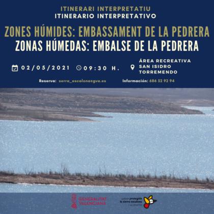Torremendo de Orihuela, evento: Ruta interpretativa 'Zonas húmedas: Embalse de la Pedrera', organizada por el 'Paisaje Protegido de Sierra Escalona' de la Comunitat Valenciana