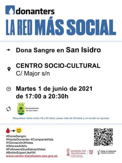 San Isidro, evento: Donación de sangre, organizada por el Centro de Transfusiones de la Comunidad Valenciana