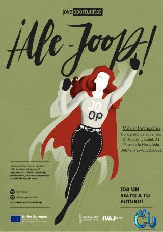 Pilar de la Horadada, evento: Inscripción en actividades dentro del programa JOOP (Jove Oportunitat) para jóvenes de 16 a 21 años que ni estudian ni trabajan y necesitan orientación